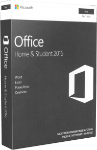 MS Office Home and Student 2016 für Mac - Key Card, EAN: 0885370933406, Best.Nr. SO-3169, erschienen 09/2015, € 129,95