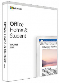 MS Office Home and Student 2019 für Windows und Mac - Key Card, EAN: 0889842335514, Best.Nr. SO-3175, erschienen 10/2018, € 136,90