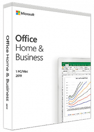 MS Office Home and Business 2019 für Windows und Mac - Key Card, EAN: 0889842336863, Best.Nr. SO-3176, erschienen 10/2018, € 249,99