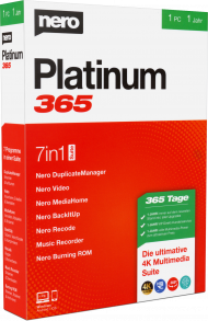 Nero Platinum 365 für 1 PC 1 Jahr (Download), Best.Nr. SOO2765, erschienen 09/2019, € 49,95
