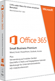 Microsoft Office 365 Small Business Premium, ESD, Best.Nr. SOO3114, € 144,95