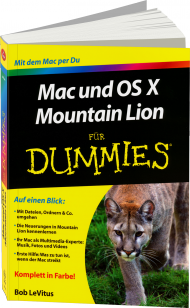 Mac und OS X Mountain Lion f�r Dummies, Best.Nr. WL-70906, € 19,95