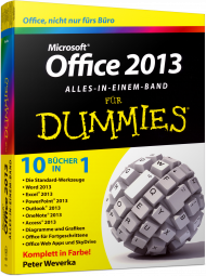 Microsoft Office 2013 für Dummies - Alles in einem Band, Best.Nr. WL-70931, € 29,99