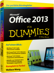 Microsoft Office 2013 für Dummies, ISBN: 978-3-527-70952-6, Best.Nr. WL-70952, erschienen 06/2013, € 16,99
