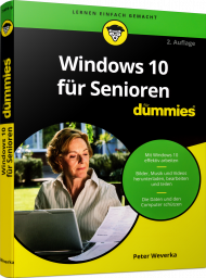 Windows 10 für Senioren für Dummies, ISBN: 978-3-527-71491-9, Best.Nr. WL-71491, erschienen 10/2018, € 19,99