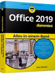 Office 2019 Alles-in-einem-Band für Dummies, ISBN: 978-3-527-71549-7, Best.Nr. WL-71549, erschienen 02/2019, € 14,00