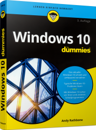 Windows 10 für Dummies, ISBN: 978-3-527-71801-6, Best.Nr. WL-71801, erschienen 10/2020, € 20,00