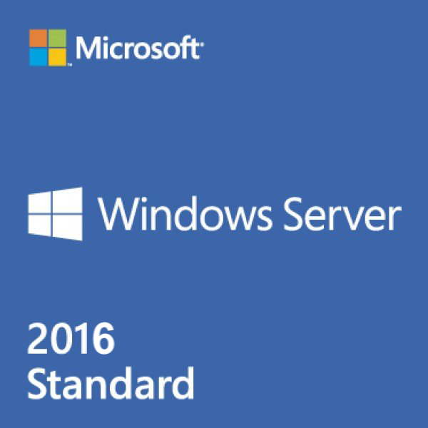 Microsoft Windows Server 2016 Standard 16 Core SB - Lizenz für 1 Server mit 2 CPUs/2 VM, 64 Bit /   ,