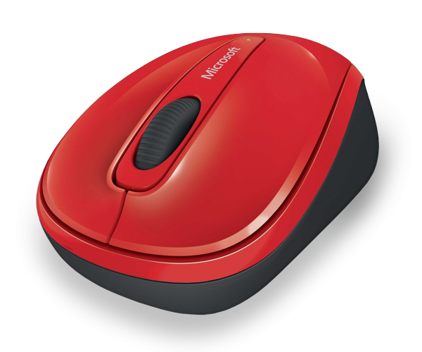 MS Wireless Mobile Mouse 3500 Limited Edition rot (GMF-00195) - Kabellose Maus mit BlueTrack Technology und Nano-Transceiver /  ,