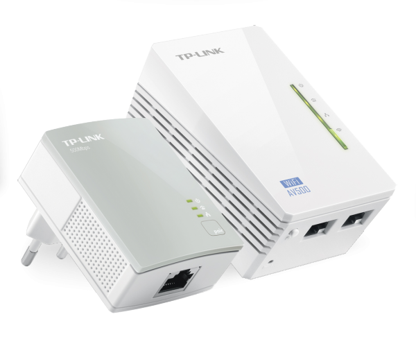 TP-LINK AV600 WLAN Powerline-Extender KIT (TL-WPA4220KIT) / 