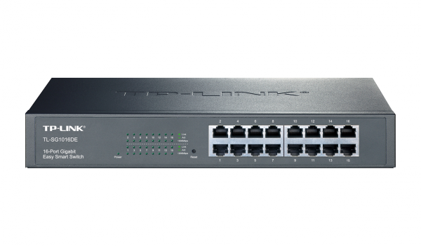 TP-LINK JetStream 16-Port Gigabit Easy-Smart-Switch (TL-SG1016DE) / 