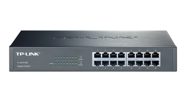 TP-LINK JetStream 16-Port Gigabit Switch (TL-SG1016D) / 