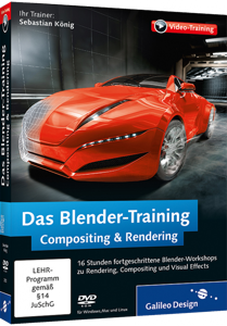 Das Blender-Training: Compositing & Rendering (Videotraining) - Cycles, Compositor, Sequencer, Visual Effects / Trainer:  , 978-3-8362-2392-8