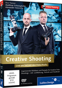 Creative Shooting (Videotraining) - Live am Set mit den Foto-Profis / Trainer:  , 978-3-8362-2679-0