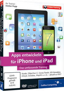 Apps entwickeln für iPhone und iPad (Videotraining) - Xcode, Objective-C, Cocoa Touch, iOS-Simulator, iCloud u.v.m. / Trainer:  , 978-3-8362-2746-9