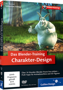 Das Blender-Training: Charakter-Design (Videotraining) - Profi-Tipps für Animationsfilme und 3D-Figuren / Trainer:  , 978-3-8362-2785-8
