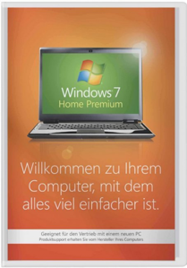 Windows 7 Home Premium - 64 Bit SP1 SB - 1 Benutzer, 64 Bit, incl. Service Pack 1, deutsch /   ,