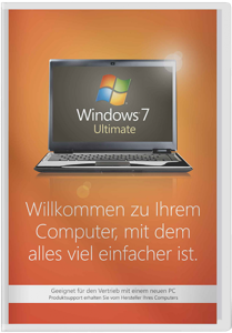Windows 7 Ultimate - 64 Bit SP1 SB - 1 Benutzer, 64 Bit, incl. Service Pack 1, deutsch /   ,