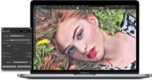 Corel Painter 2021: Technologie voor machinaal leren
