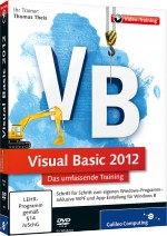 Visual Basic 2012 - Das umfassende Videotraining, Best.Nr. GP-1988, € 35,95