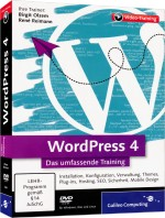 WordPress 4 - Das umfassende Videotraining, Best.Nr. GP-3464, € 35,95