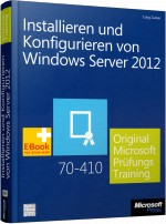 Installieren und Konfigurieren von Windows Server 2012, Best.Nr. MS-5040, € 49,90
