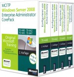 MCITP/MCSA Windows Server 2008 Enterprise Administrator CorePack, ISBN: 978-3-86645-995-3, Best.Nr. MS-5995, erschienen 02/2012, € 229,00