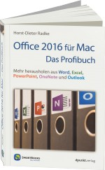 Office 2016 f�r Mac - Das Profibuch, Best.Nr. SM-293, € 27,90