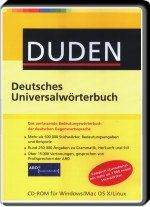 DUDEN - Deutsches Universalw�rterbuch, Best.Nr. SO-2229, € 34,95