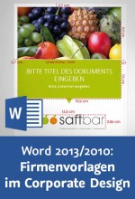 Word 2013/2010: Firmenvorlagen im Corporate Design Videotraining, Best.Nr. V2B-1560, € 29,95