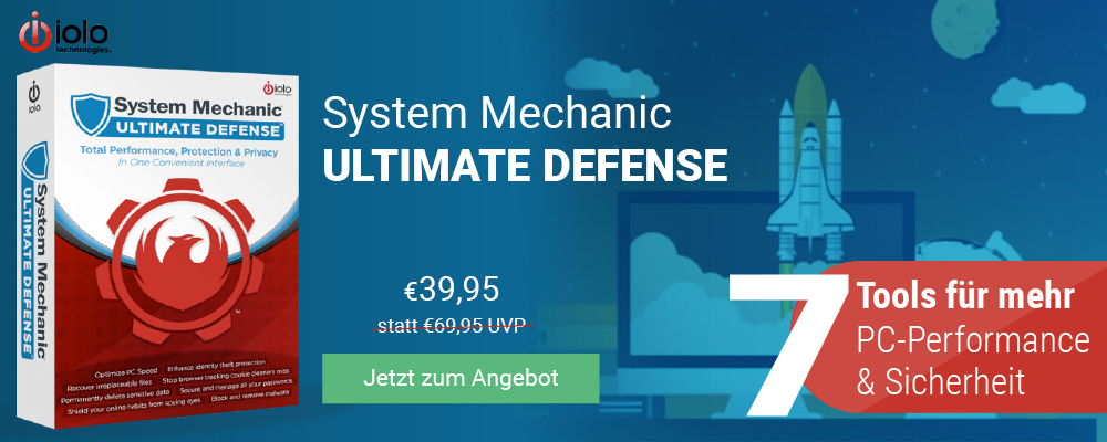 iolo System Mechanic Ultimate Defense – 7 Tools für mehr PC-Performance & Sicherheit