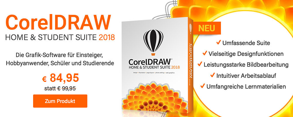 Neu: CorelDRAW Home & Student Suite 2018