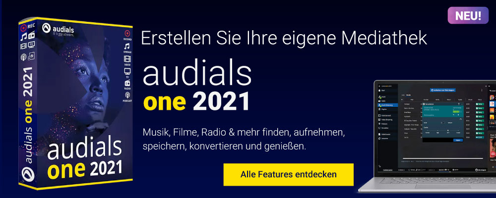 Audials One 2021 - Meine Musik, meine Filme, mein Podcast!