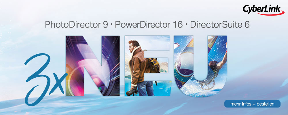 CyberLink PhotoDirector, PowerDirector und Director Suite