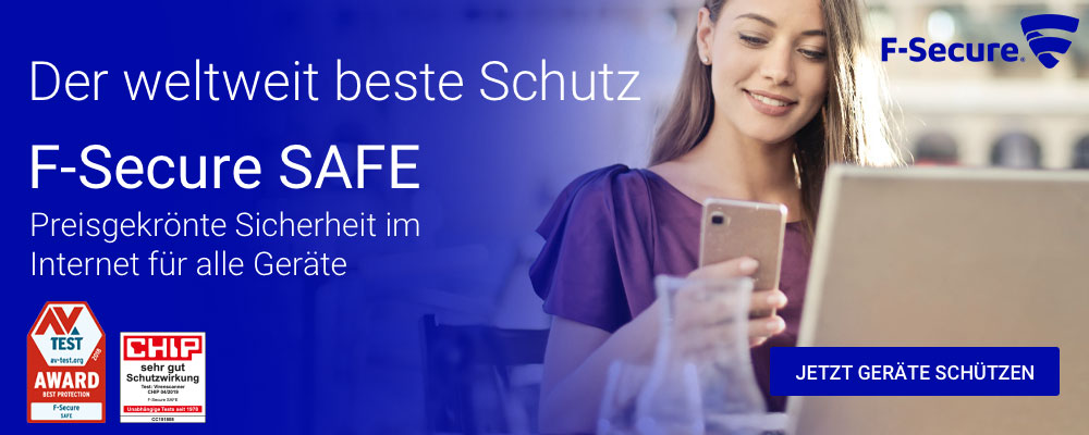 Mit F-Secure SAFE schützen Sie alle Geräte: Anti-Virus, Internet Security, Freedome VPN, KEY Passwortmanager