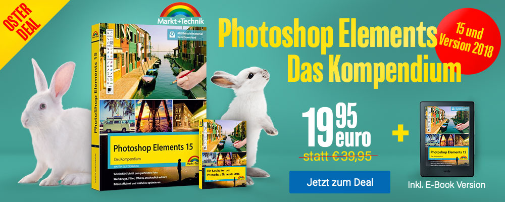 Photoshop Elements 15 - Das Kompendium inkl. E-Book - nur 19,95 EUR