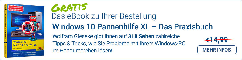 Windows 10 Pannenhilfe XL – das gratis E-Book