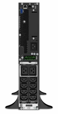APC Smart UPS SRT - USV On-Line 2200VA Tower SRT2200XLI - Rücken