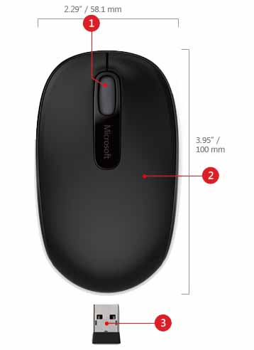 Highlights des Wireless Mobile Mouse 1850