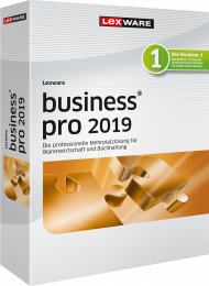 Lexware business pro 2019 (Download), ISBN: , Best.Nr. LXO1214, erschienen 12/2018, € 747,60