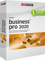 Lexware business pro 2020 Jahresversion (Download), ISBN: , Best.Nr. LXO1231, erschienen 11/2019, € 769,95