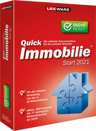 QuickImmobilie Start 2021 Jahresversion (Download), EAN: 9783648143681, Best.Nr. LXO1236, erschienen 06/2020, € 69,95