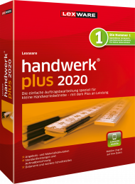 Lexware handwerk plus 2020 Jahresversion (Download), EAN: 9783648133354, Best.Nr. LXO4187, erschienen 11/2019, € 279,00