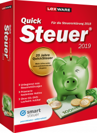 QuickSteuer 2019 (Download), EAN: 9783648112526, Best.Nr. LXO5050, erschienen 11/2018, € 14,95