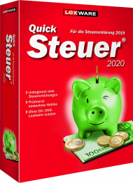 QuickSteuer 2020 (Download), EAN: 9783648128411, Best.Nr. LXO5057, erschienen 11/2019, € 14,95
