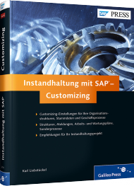 Instandhaltung mit SAP - Customizing, ISBN: 978-3-8362-2111-5, Best.Nr. GP-2111, erschienen 04/2014, € 69,90