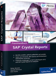 Praxishandbuch SAP Crystal Reports, ISBN: 978-3-8362-2374-4, Best.Nr. GP-2374, erschienen 01/2014, € 69,90