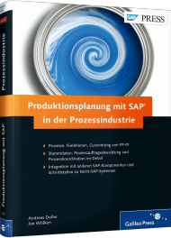 Produktionsplanung mit SAP in der Prozessindustrie, ISBN: 978-3-8362-2892-3, Best.Nr. GP-2892, erschienen 01/2015, € 69,90