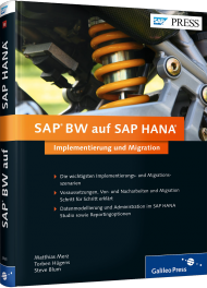 SAP BW auf SAP HANA, ISBN: 978-3-8362-2965-4, Best.Nr. GP-2965, erschienen 01/2015, € 69,90