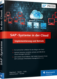 SAP-Systeme in der Cloud, ISBN: 978-3-8362-3724-6, Best.Nr. RW-3724, erschienen 11/2015, € 49,00